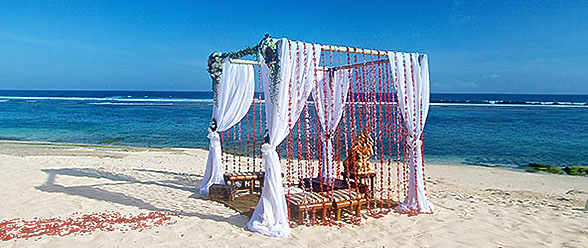 Bali beach Wedding setup
