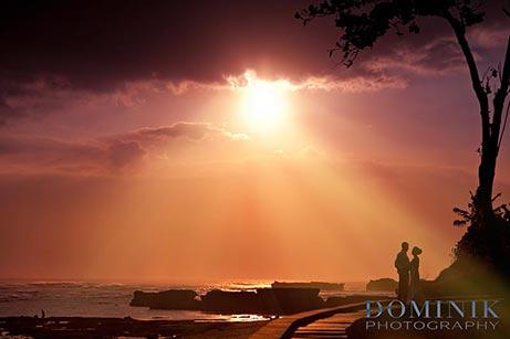 Bali beach sunset photo
