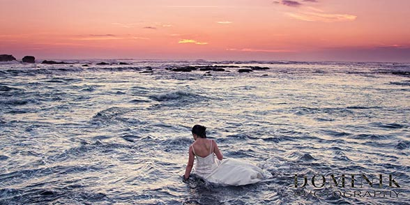 Trash the dress sunset in Bali