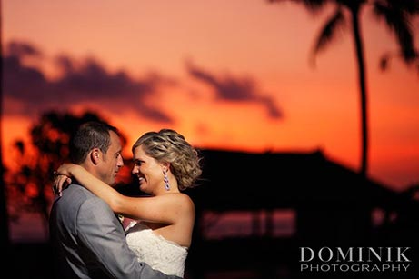 couple in sunset -Bali