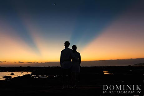 into a Bali sunset