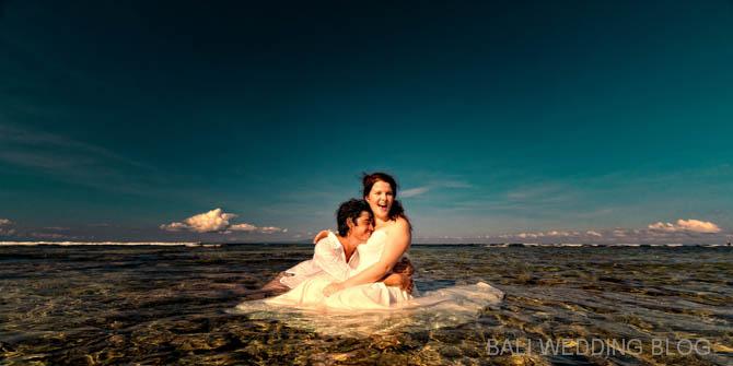 Bali pre wedding trash the dress