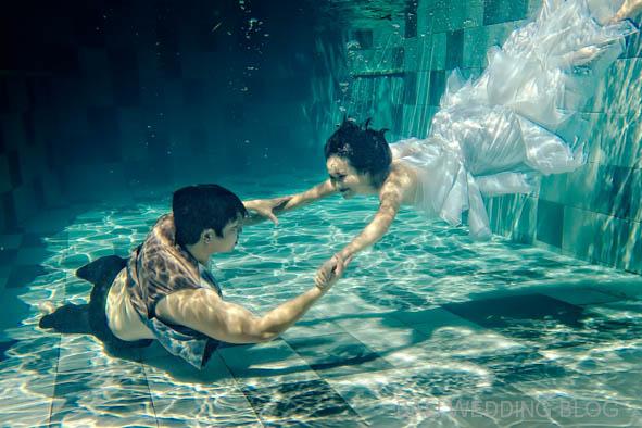 Bali pre wedding under water