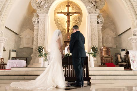 roman catholic wedding in Bali
