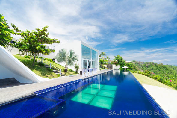 Bali villa wedding view