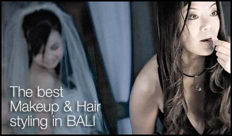 Professional Makeup & hair styling for your wedding in Bali