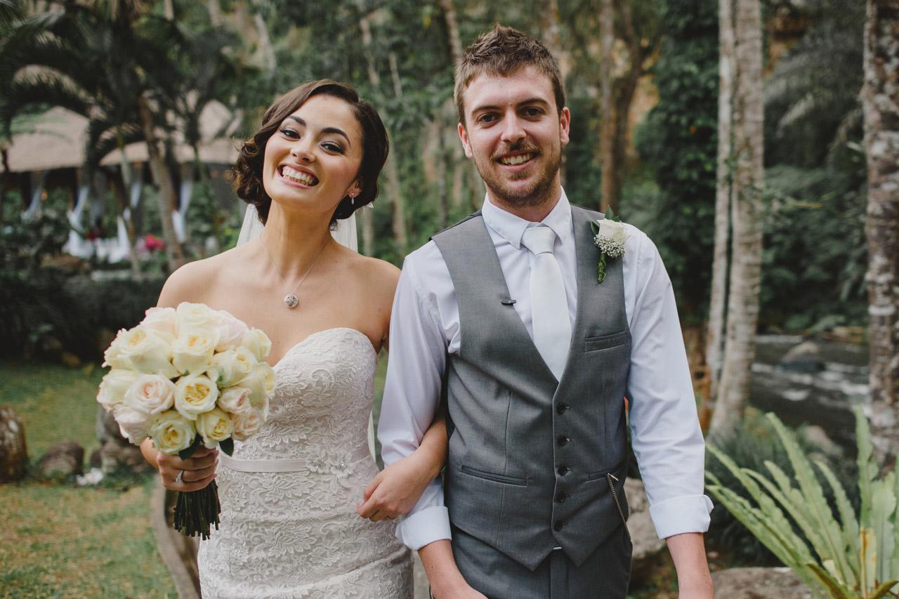 Happy Botanica Wedding Couple