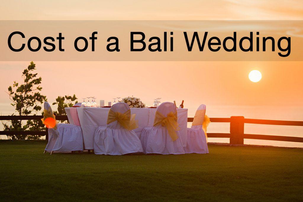 Cost of a Bali Wedding