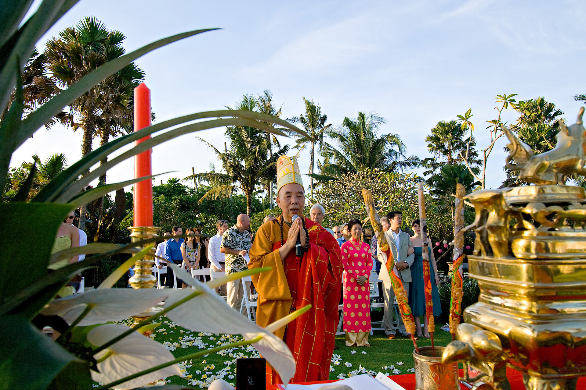 Bali wedding in Buddhist tradition