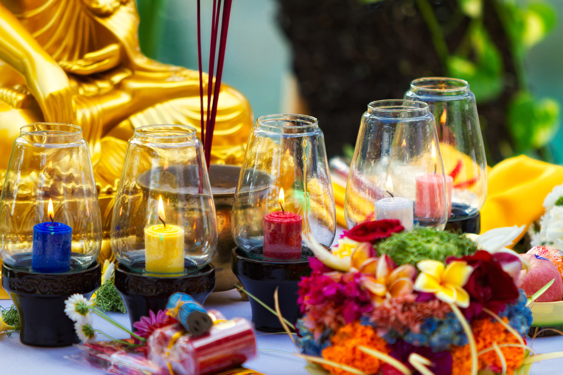 Buddhist wedding decor Bali