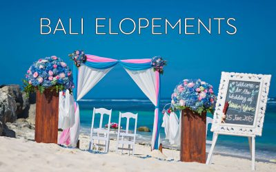 Bali Elopement weddings – all you want to know