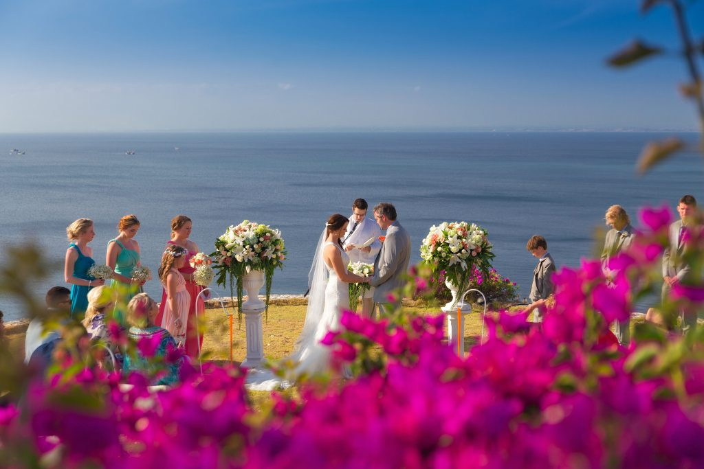 best cliff top wedding villas