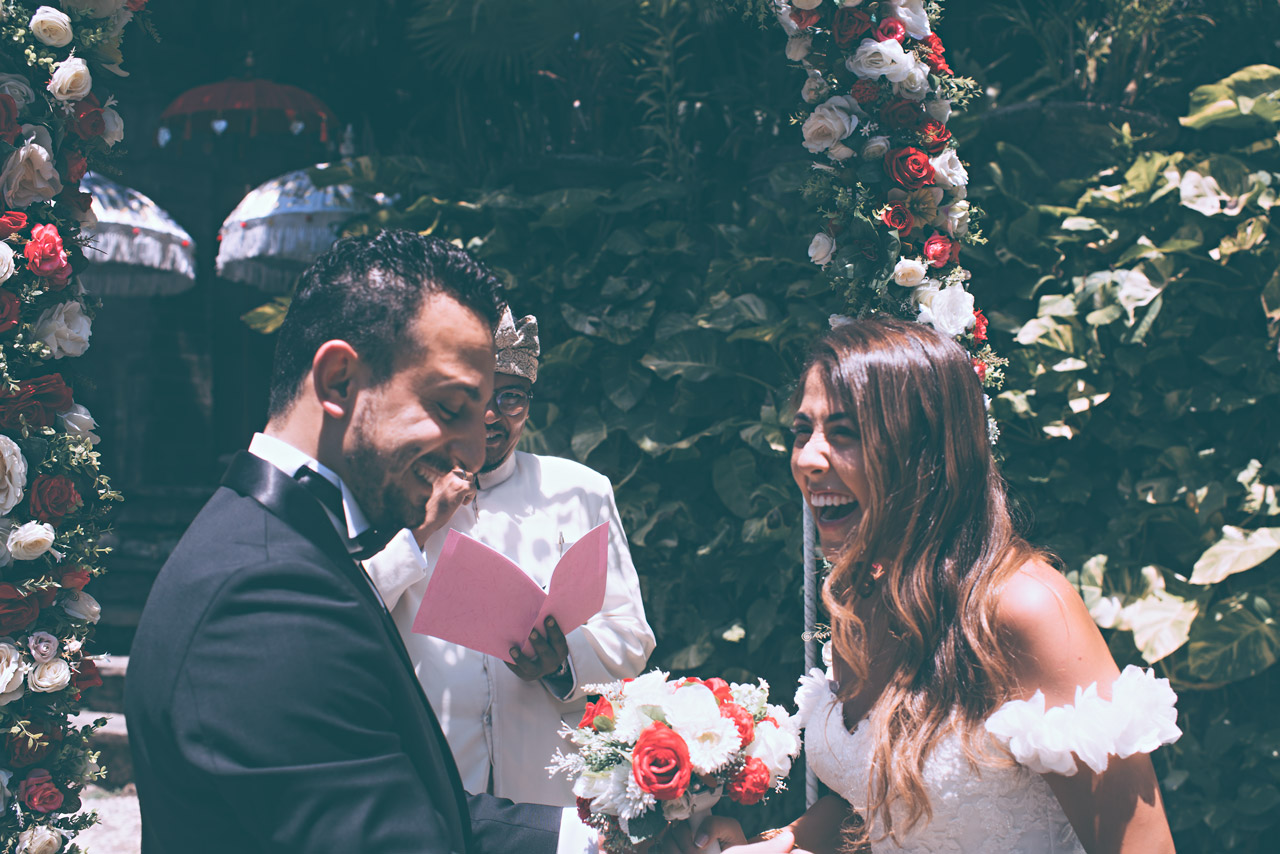 Bali elopement ceremony