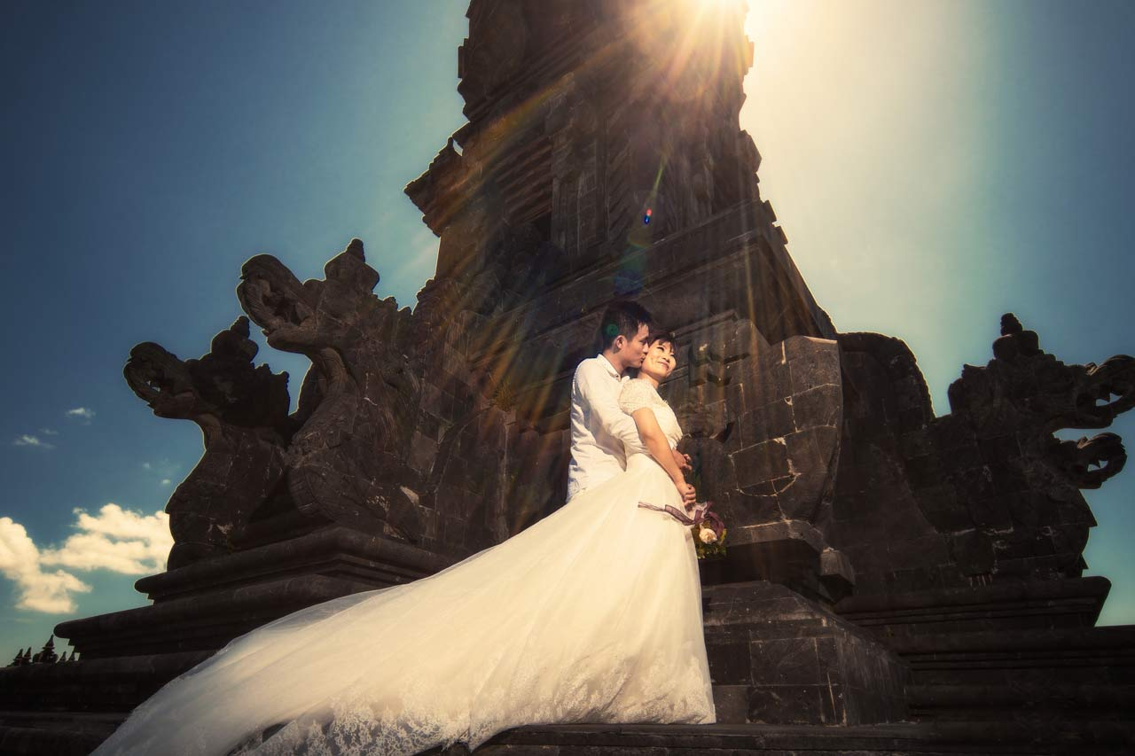 best Bali temple locations for pre wedding photographs