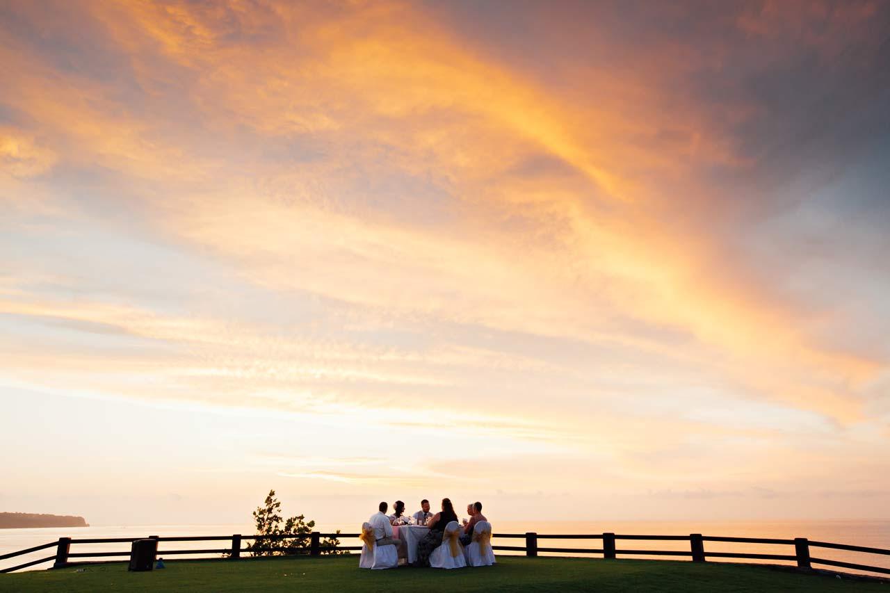 Bali beach wedding dinner venue