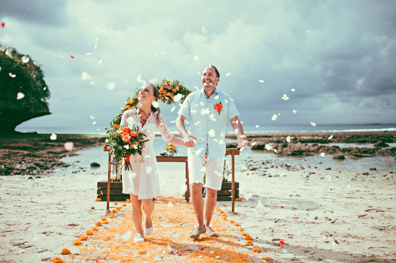 Popular Bali beach weddings