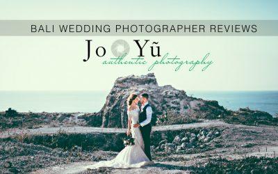 Bali wedding photographer review JO YU