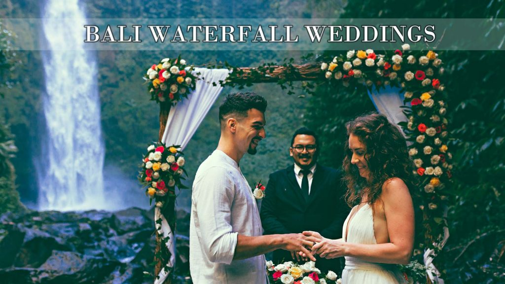 Bali waterfall wedding