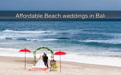 The most affordable Beach wedding in Bali