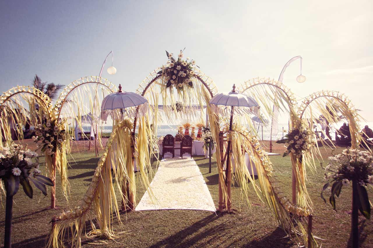 setup-for-a-Balinese-wedding-ceremony